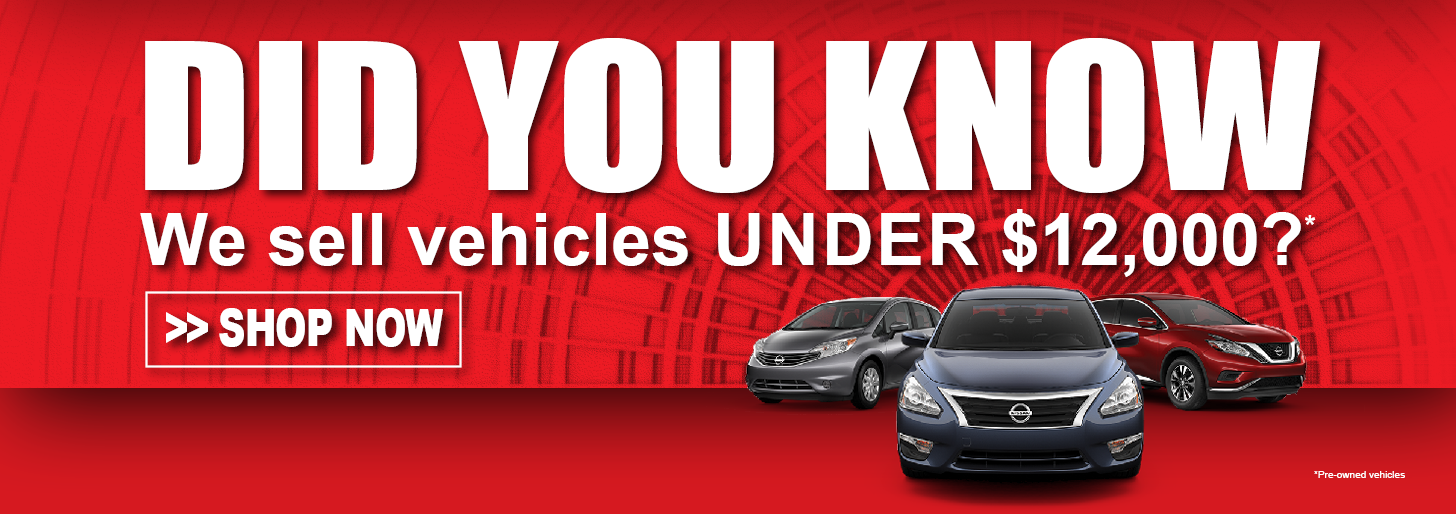 PRE-OWNED VEHICLES UNDER $12,000 at Pedder Nissan