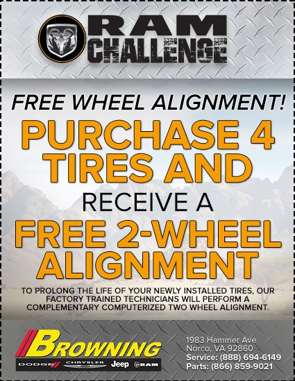 Browning Dodge Free 2-wheel alignment
