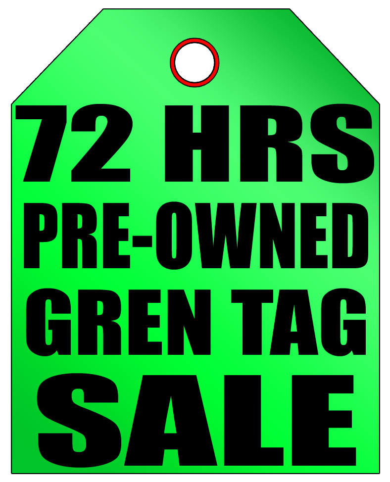 Norm Reeves Ford Super Store 72 HRS Pre-Owned Green Tag Sale.